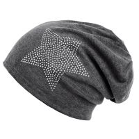 Star Rhinestone Cotton Beanie